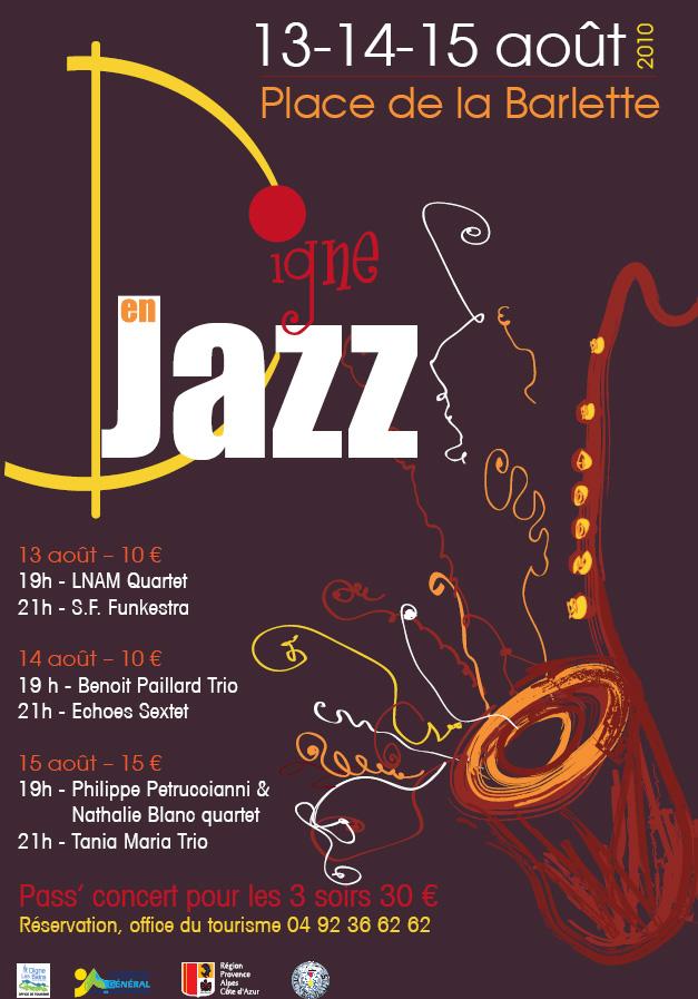 Affiche digne en jazz 2010
